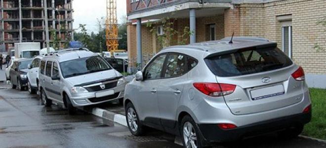 Эвакуация машины за неправильную парковку — на месте для инвалидов, на тротуаре, на газоне