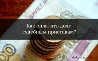 Как оплатить судебную задолженность у приставов  — без комиссии, онлайн