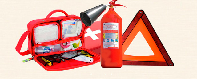 Штраф за отсутствие аптечки, огнетушителя и знака аварийной остановки в 2020 году