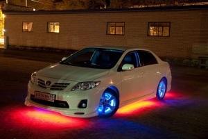 Разрешена ли подсветка днища автомобиля, штраф за неоновую подсветку днища
