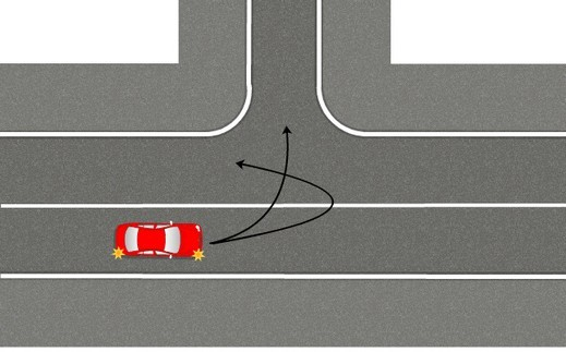 Какое наказание за разворот и поворот налево через двойную сплошную?
