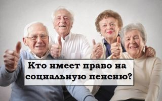 Социальная пенсия - ее виды, условия назначения, лица имеющие на нее право