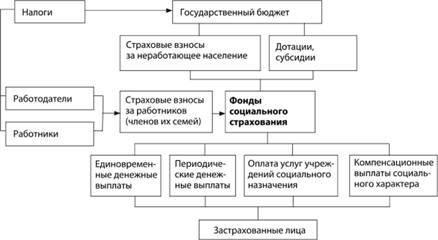 Государственное регулирование социальной сферы и социального страхования - система, особенности