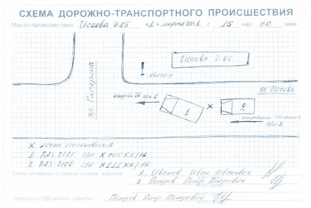 Как составить и заполнить европротокол и извещение при ДТП - бланк и образец