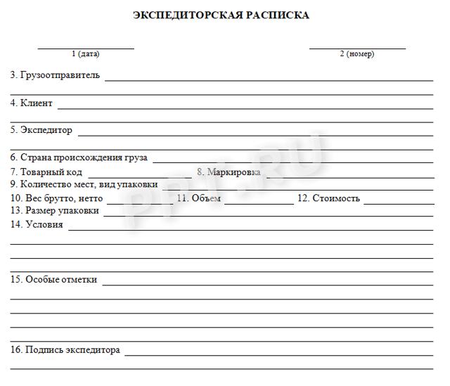 Складская расписка (warehouse receipt) - что это, где применяется, бланк, заполнение