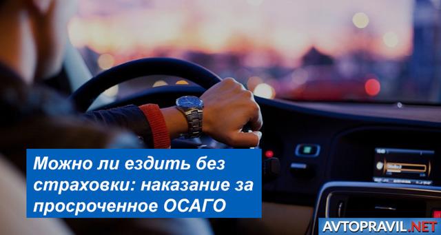 Езда без страховки: можно ли и как ездить без полиса ОСАГО, срок езды без страховки?